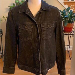 NWOT Jones New York Jeans Black Denim Jean Jacket